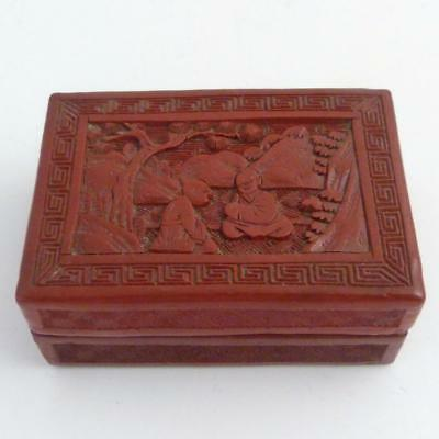 Chinese Red Cinnabar Rectangular Box And Cover, Early 19Th Century