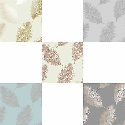 Fawning Feather Gold Metallic Shimmer Wallpaper Feature Cream Silver Duck Egg