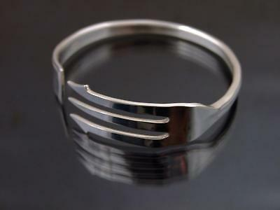 Silver Plated Pickle Knife Bracelet Bangle Unusual Vintage Unique Cutlery