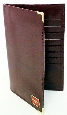 Vintage Dunhill Maroon Calf Leather Wallet Card Holder