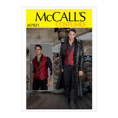 McCall's 7821 Sewing Pattern to MAKE Vest & Trench Coat Costume - Matrix Cosplay