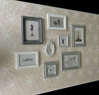 French Vintageshabby Chic Photo Frames Picture Gallerywall Art Set