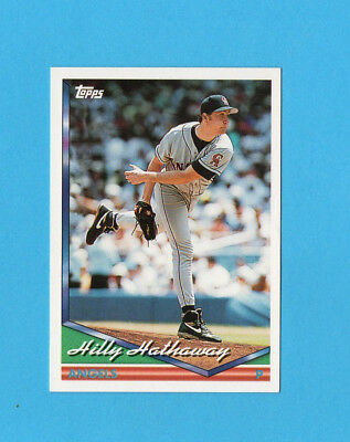 BASEBALL CARD-TOPPS 1994-n.596-HILLY HATHAWAY-ANGELS