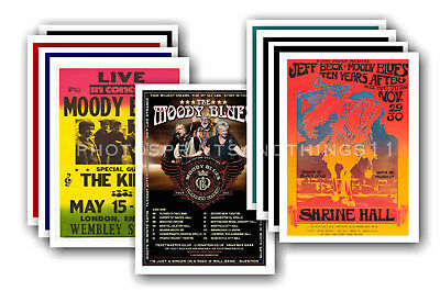 MOODY BLUES  - 10 promotional posters  collectable postcard set # 2