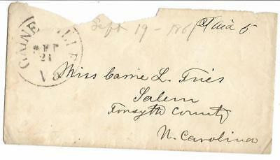 CSA Cover Gainesville to Miss Came Tues, in Salem, NC, MS Paid 5 & Date 9/21/61