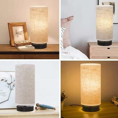 Bedside Table Lamp, Modern Simple Design Desk Lamp with Cylinder Fabric Sh