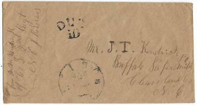 CSA Soldiers Cover, MM Kendrick, 2nd Regt NC Reserves to JT Kendrick, Due 10