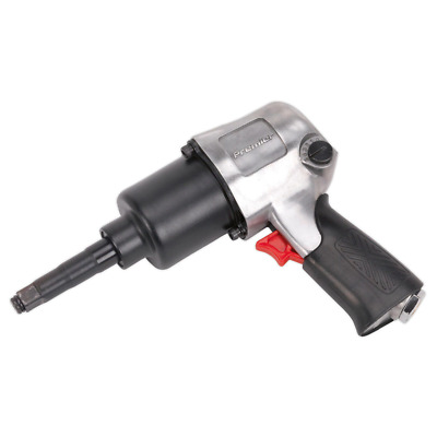 Sealey SA602L Air Impact Wrench 1/2in Square Drive Twin Hammer - Long Anvil