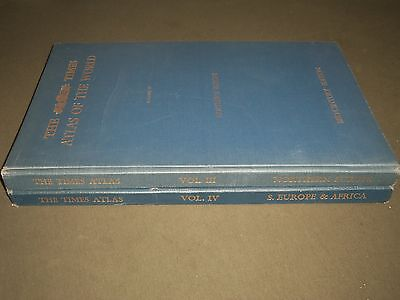 1955-1956 The Times Atlas Of The World Volume 3 & 4 - Great Plates - Kd 2576