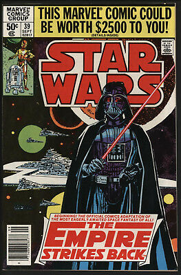 Star Wars #39 Sep 1980. Empire Stikes Back! Great Cover