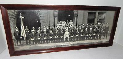 Vintage McKEESPORT PA. Police Department Framed Photo - May 31, 1954