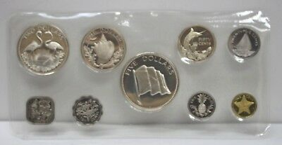 1975 Commonwealth Of The Bahamas  Islands 9 Coin Pr Set By Franklin Mint -76021h
