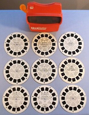 Viewmaster Reels- Lot Of 9 Disney Reels- All In Good Cond. With Excellent Viewer