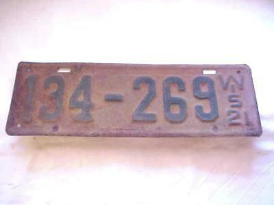 1921 Wisconsin Pair of License Plates 134-269 Original! old car plate