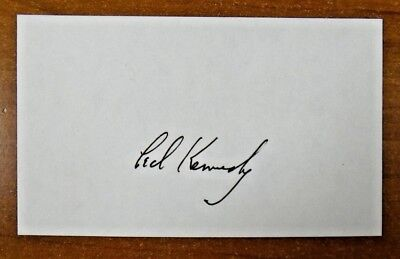 Senator Ted Kennedy Signed 3x5 Card Brother of JFK JSA/PSA Guarantee
