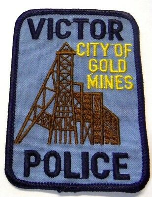Victor Colorado Police Patch Unused City Of Gold Mines