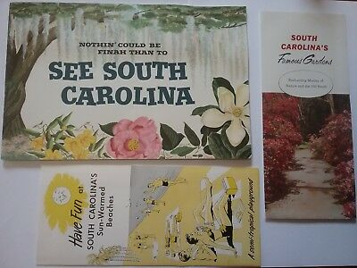 1950s South Carolina Brochures Beaches Gardens Nothin' Could be Finah Pin Ups!