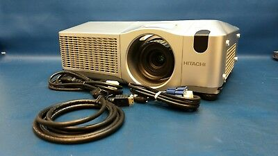 HITACHI CP-WX625 Projector 3 LCD 4000 Lumens 1000:1 1280x800 772 Lamp Hours