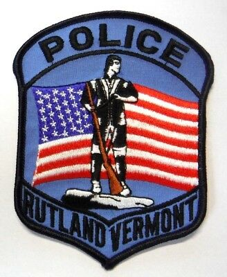 Rutland Vermont Police Patch Unused