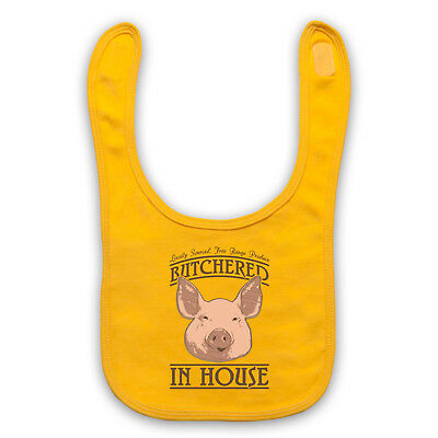 Butchered In House Locally Sourced Free Range Produce Baby Bib Shower Gift