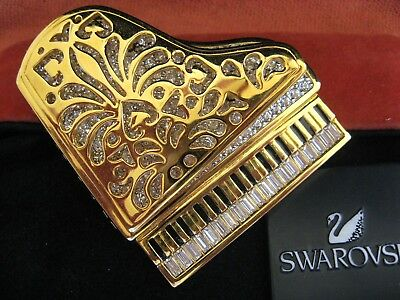 Swarovski Swan Signed Grand Piano Brooch Pin New