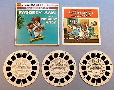 Viewmaster Reels - Raggedy Ann - Set Of 3 With Booklet In Good Condition
