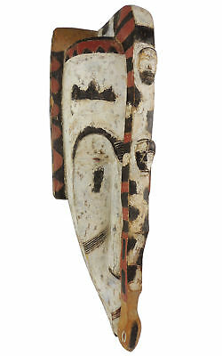 Fang Ngil Mask With Snake Gabon African Art 33 Inch SALE WAS $410.00