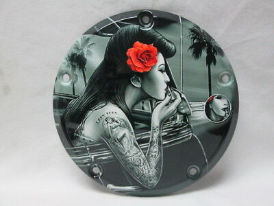 Harley Davidson Custom 5 Hole Derby Cover - Lady Luck Pin Up Girl