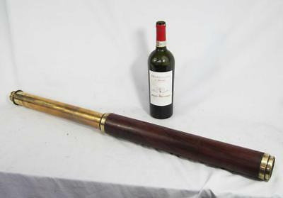 FINE RARE GEORGE III ANTIQUE TELESCOPE by WELLINGTON LONDON 1800s