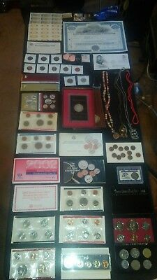 BIG coin LOT collection MINT SETS PROOF SET SILVER+CERTIFICATE +NO JUNK DRAWER
