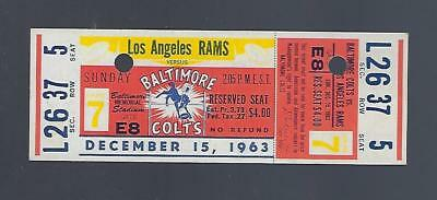 720fff98d02 1963 Nfl Los Angeles Rams   Baltimore Colts Full Unused Football Ticket