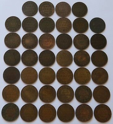 Canada 40 Large Cents 1881-H/82-H/84/86/87/88/90-H/91/93/95/96/97/99+  (171612)