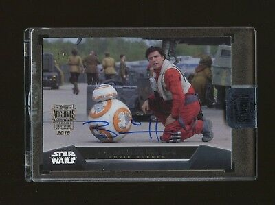2018 Topps Star Wars Archives Brian Herrig Bb-8 On Card Auto 1/2