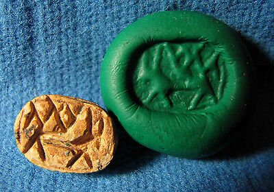 Early Iron Age Egypt / Judaea Scarab seal with Gazela Archaeology.