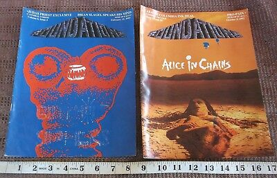 VINTAGE 1990s HEAVY METAL MAGAZINE LOT OF 3 FOUNDATIONS Alice in Chains Pantera
