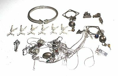 Bulk Lot of 86.2g Mixed SILVER & METAL Jewellery Various Designs - G15
