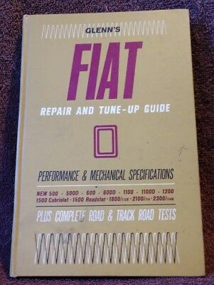 Chilton 1964 Glenn's Fiat Repair & Mechanical Spec Hardback Guide 2nd Printing