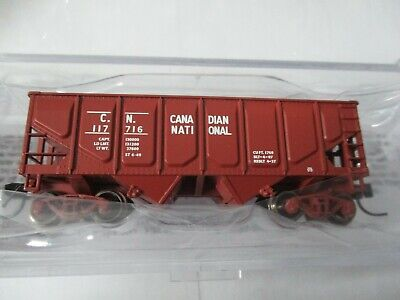 "Bluford Shops #62093 Canadian National 30'6"" 2-Bay Panel Side Hopper N-Scale"