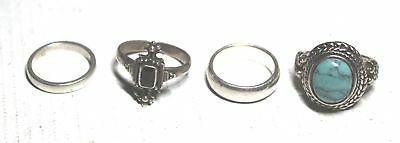 4 Pieces Collection of .925, .935 & Metal Rings, Various Designs, 16.6g - S23