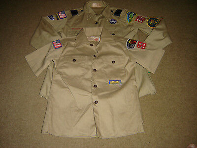 2-Authentic Boy Scouts Shirts 1- Long Sleeve Med. And 1-Short Sleeve Sm. Youth