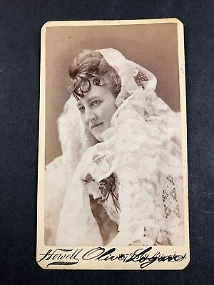 Olive Logan Actress Suffragette Suffrage CDV Photo SIgned Autographed? Howell
