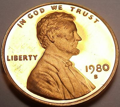 United States Proof 1980-S Lincoln Cent~See All Our Lincoln Proofs