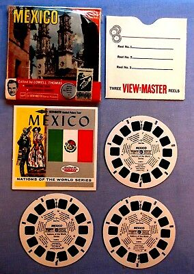 Viewmaster Reels - Mexico - Set Of 3 With Booklet In Very Good Condition