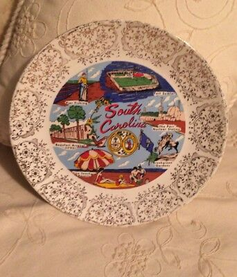 Vintage Souvenir Plate from South Carolina