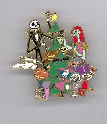Disney Shopping Nightmare Jack Sally Lock Shock Barrel Home for Holidays LE Pin
