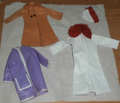 Vintage Barbie Mod Era Lot of 3 Coats 1 With Matching Hat
