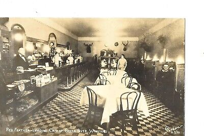 Real Photo Restaurant Red Feather Green River Wy Leading Cafe Sanborn X-874