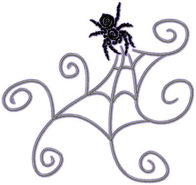 Spiders And Web 10 Machine Embroidery Designs Cd 2 Sizes