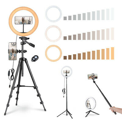 "13"" LED Ring Light w/ Stand Dimmable 3200-5500K Lighting Kit Photo Video Makeup"