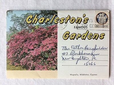 Vintage 1979 Souvenir Photo Book Fold Out Charleston's Gardens South Carolina